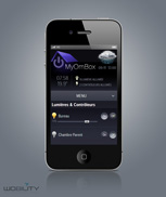 Interface iPhone, Android, Blackberry, WindowsPhone WEB multiplatform html5 management automation system myHome